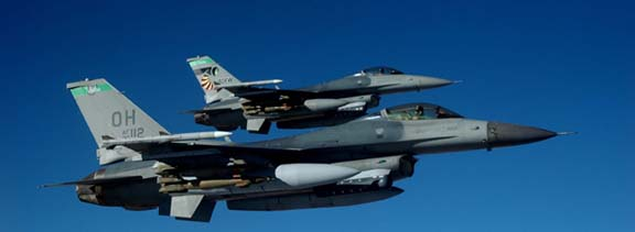 Flying F-16 graphic